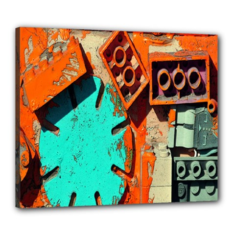 Sunburst Lego Graffiti Canvas 24  x 20