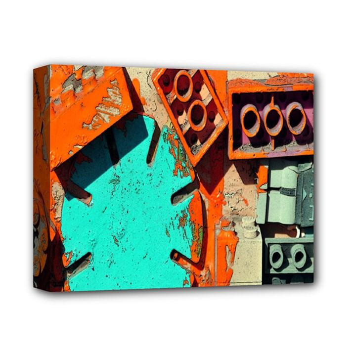Sunburst Lego Graffiti Deluxe Canvas 14  x 11