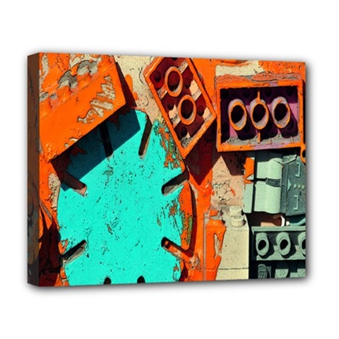 Sunburst Lego Graffiti Deluxe Canvas 20  x 16