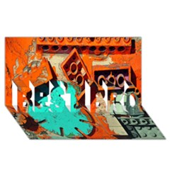 Sunburst Lego Graffiti BEST BRO 3D Greeting Card (8x4)