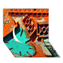Sunburst Lego Graffiti Circle 3D Greeting Card (7x5)