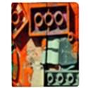 Sunburst Lego Graffiti Apple iPad 3/4 Flip Case View1