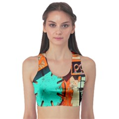 Sunburst Lego Graffiti Sports Bra