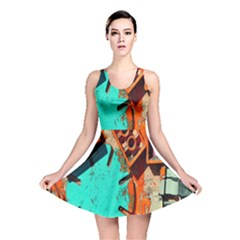 Sunburst Lego Graffiti Reversible Skater Dress