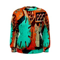 Sunburst Lego Graffiti Women s Sweatshirt