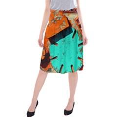 Sunburst Lego Graffiti Midi Beach Skirt