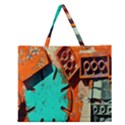 Sunburst Lego Graffiti Zipper Large Tote Bag View1