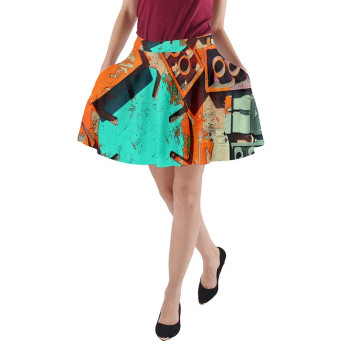 Sunburst Lego Graffiti A-Line Pocket Skirt