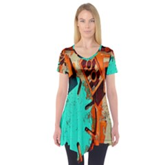 Sunburst Lego Graffiti Short Sleeve Tunic