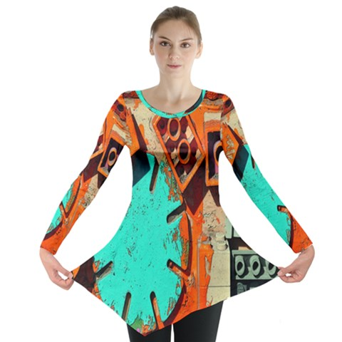 Sunburst Lego Graffiti Long Sleeve Tunic