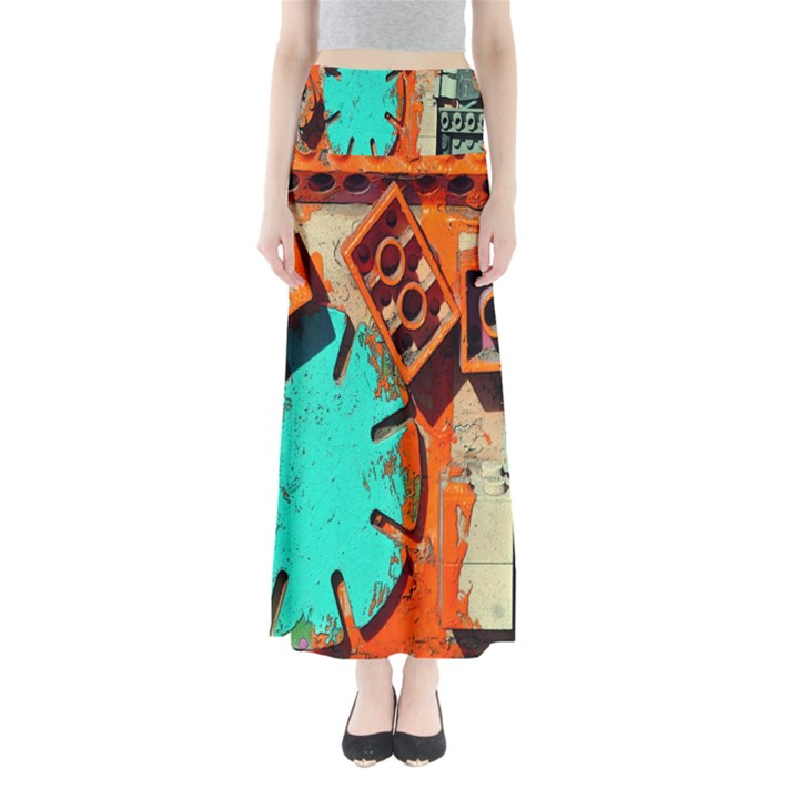 Sunburst Lego Graffiti Maxi Skirts