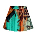 Sunburst Lego Graffiti Mini Flare Skirt View1
