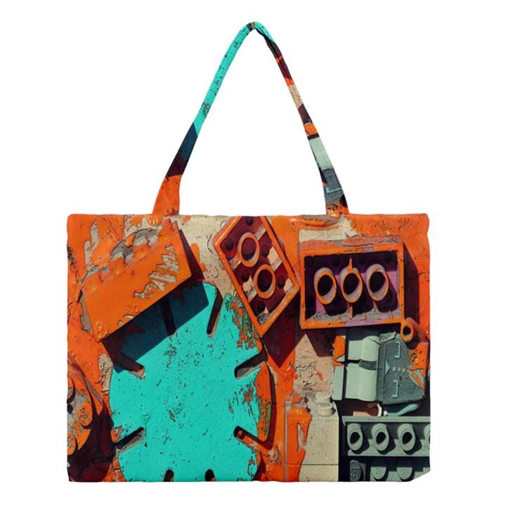 Sunburst Lego Graffiti Medium Tote Bag