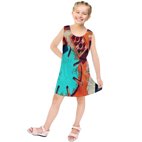 Sunburst Lego Graffiti Kids  Tunic Dress