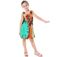 Sunburst Lego Graffiti Kids  Sleeveless Dress