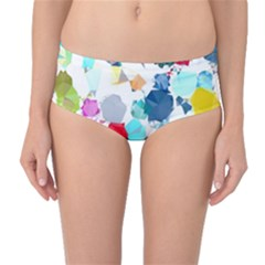 Colorful Diamonds Dream Mid Waist Bikini Bottoms