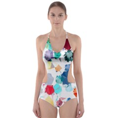 Colorful Diamonds Dream Cut-Out One Piece Swimsuit