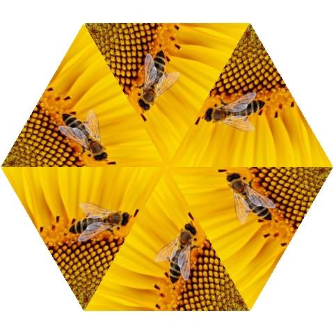 Sun Flower Bees Summer Garden Mini Folding Umbrellas