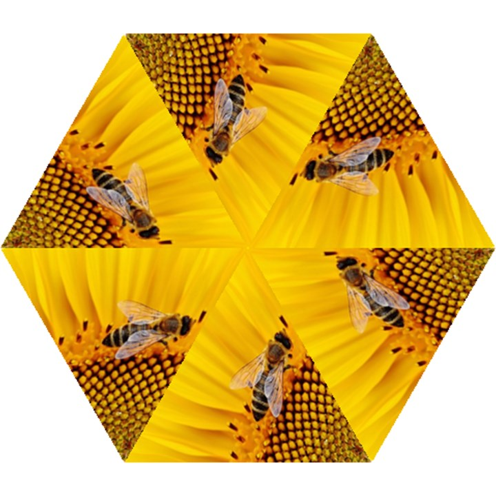 Sun Flower Bees Summer Garden Mini Folding Umbrellas