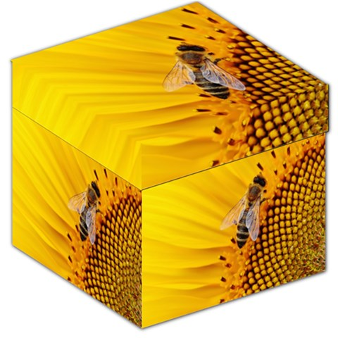 Sun Flower Bees Summer Garden Storage Stool 12