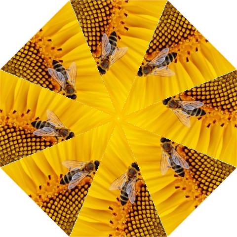 Sun Flower Bees Summer Garden Hook Handle Umbrellas (Large)