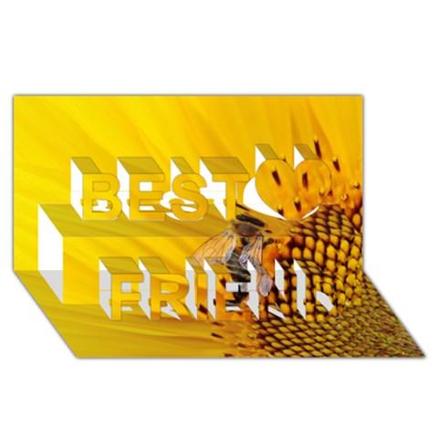 Sun Flower Bees Summer Garden Best Friends 3D Greeting Card (8x4)