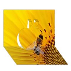 Sun Flower Bees Summer Garden Apple 3D Greeting Card (7x5)