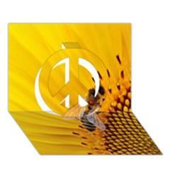 Sun Flower Bees Summer Garden Peace Sign 3D Greeting Card (7x5)