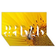 Sun Flower Bees Summer Garden #1 DAD 3D Greeting Card (8x4)