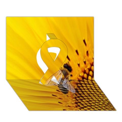 Sun Flower Bees Summer Garden Ribbon 3D Greeting Card (7x5)