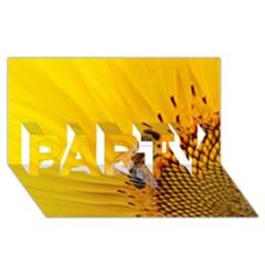 Sun Flower Bees Summer Garden PARTY 3D Greeting Card (8x4)