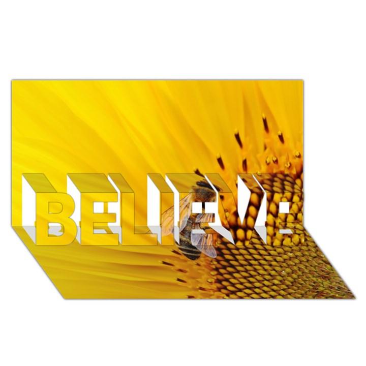 Sun Flower Bees Summer Garden BELIEVE 3D Greeting Card (8x4)