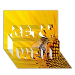 Sun Flower Bees Summer Garden Get Well 3D Greeting Card (7x5)