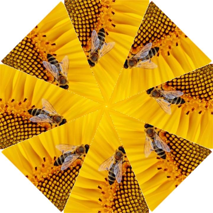 Sun Flower Bees Summer Garden Hook Handle Umbrellas (Small)