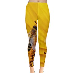 Sun Flower Bees Summer Garden Leggings