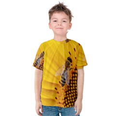 Sun Flower Bees Summer Garden Kids  Cotton Tee