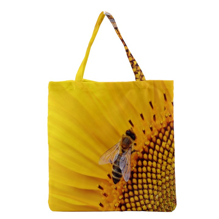 Sun Flower Bees Summer Garden Grocery Tote Bag