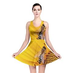 Sun Flower Bees Summer Garden Reversible Skater Dress
