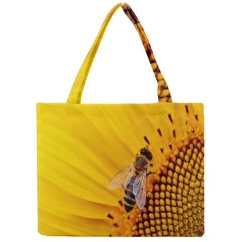 Sun Flower Bees Summer Garden Mini Tote Bag