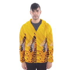 Sun Flower Bees Summer Garden Hooded Wind Breaker (Men)