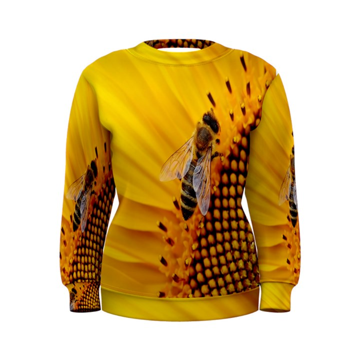 Sun Flower Bees Summer Garden Women s Sweatshirt