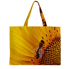 Sun Flower Bees Summer Garden Zipper Mini Tote Bag