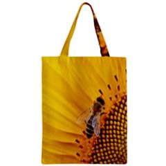 Sun Flower Bees Summer Garden Zipper Classic Tote Bag