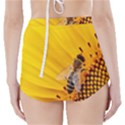 Sun Flower Bees Summer Garden High-Waisted Bikini Bottoms View2