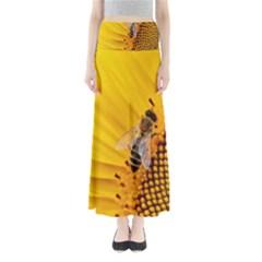 Sun Flower Bees Summer Garden Maxi Skirts