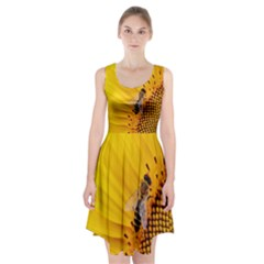 Sun Flower Bees Summer Garden Racerback Midi Dress