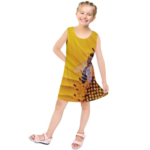 Sun Flower Bees Summer Garden Kids  Tunic Dress