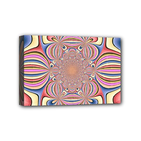 Pastel Shades Ornamental Flower Mini Canvas 6  x 4