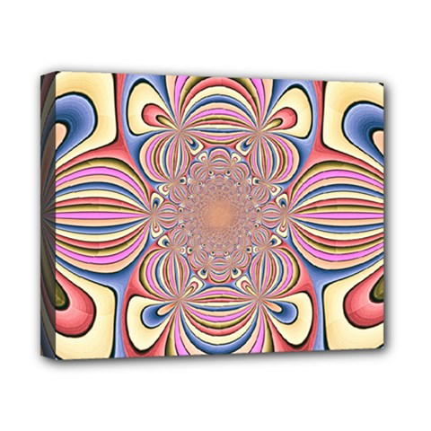 Pastel Shades Ornamental Flower Canvas 10  x 8