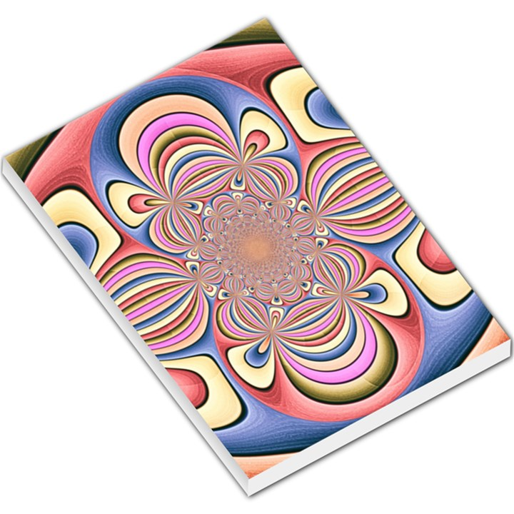 Pastel Shades Ornamental Flower Large Memo Pads